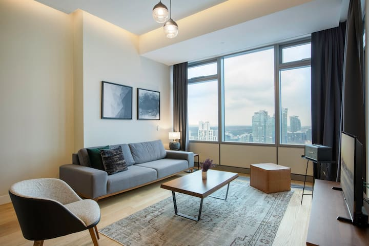 Modern,  1BR,  42 Maslak Residence with Pool & City View