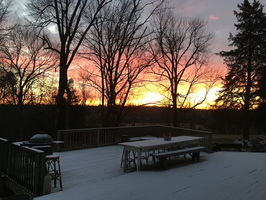 You don't want to miss our beautiful sunrises and sunsets.