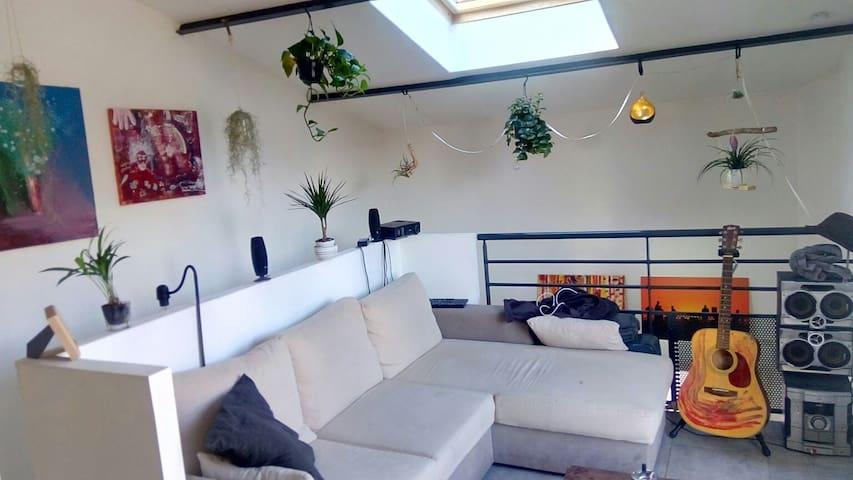 Loft cosy (bar, terrasse & parking) - Lyon - House