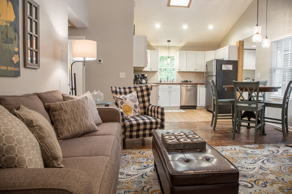 Open concept living, perfect for gathering.