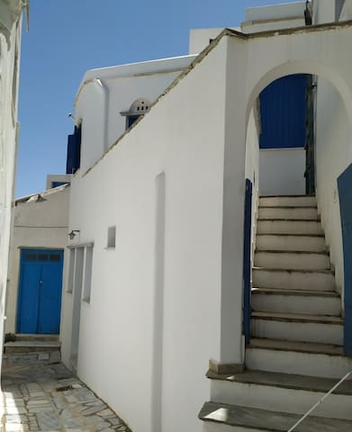 Traditional cycladic house in Pyrgos, Tinos