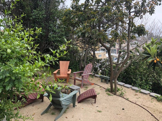 Lower Garden Fire Pit - Free Firewood!