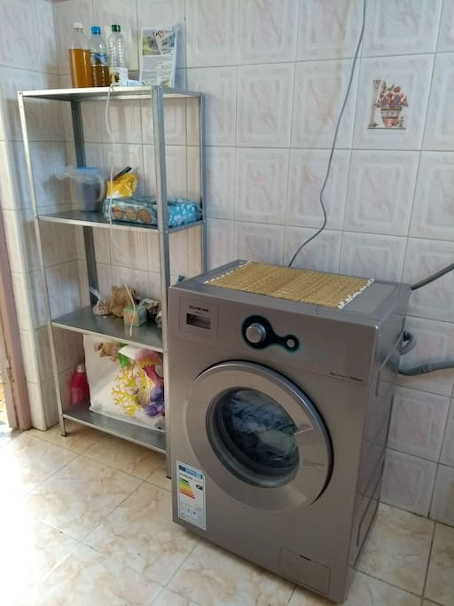 Washing machine can be used for 50dh/machine