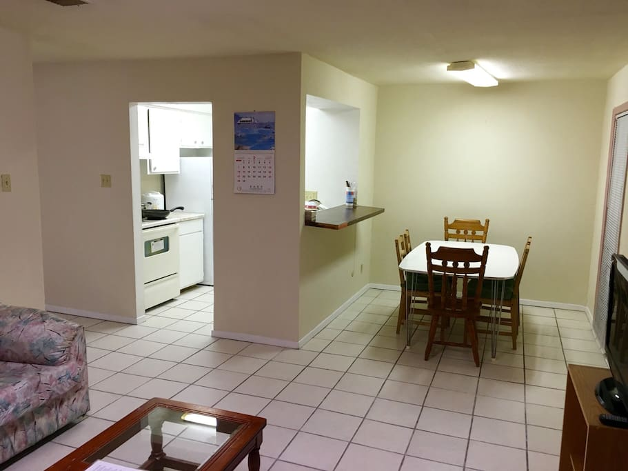 Kitchen/dining room. Somewhat spacious dining room can seat 6.