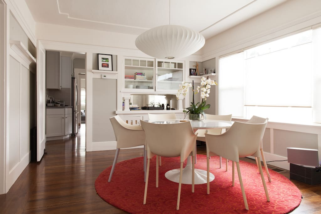 The dining room is great for entertaining.
