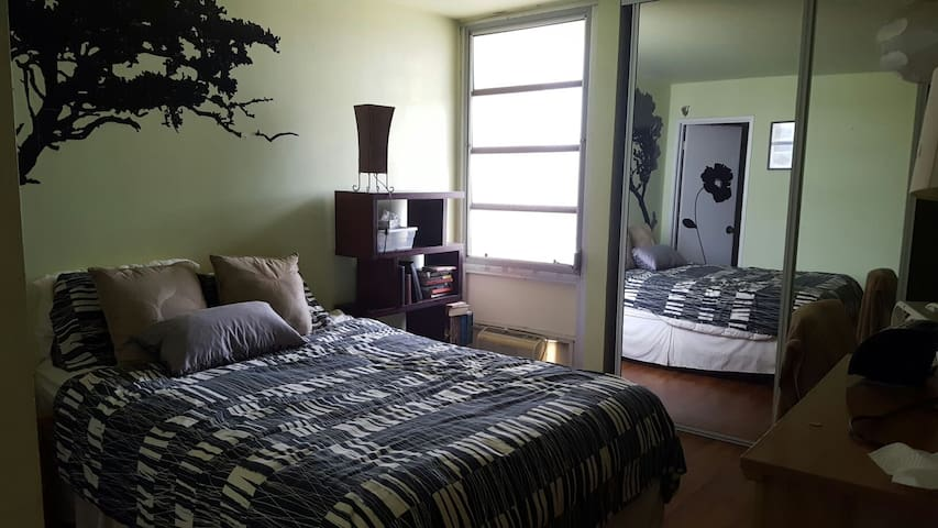 Bright Private Bedroom in High Rise