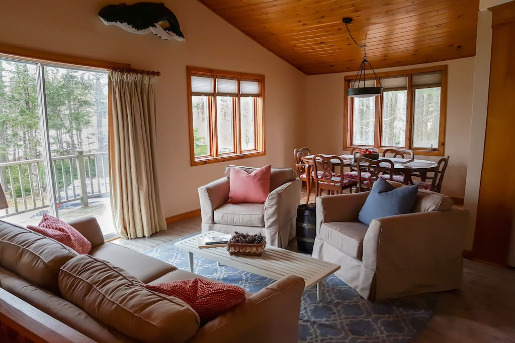 Upper level living and dining