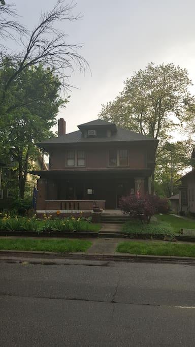 Indianapolis' historic Old Northside Neighborhood.