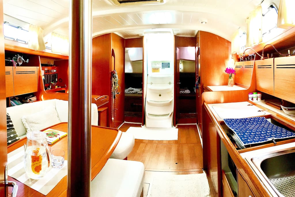 It is extremely spacious inside our main cabin and Will accommodate 10 people without any problems