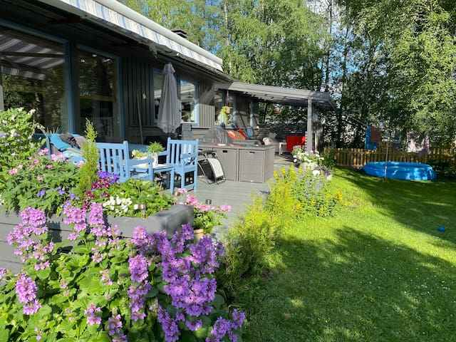 Enebolig nær Hamar og Elverum - mange sengeplasser