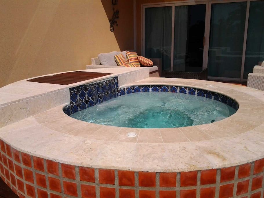 Roman hot tub on your deck just off your living room...
