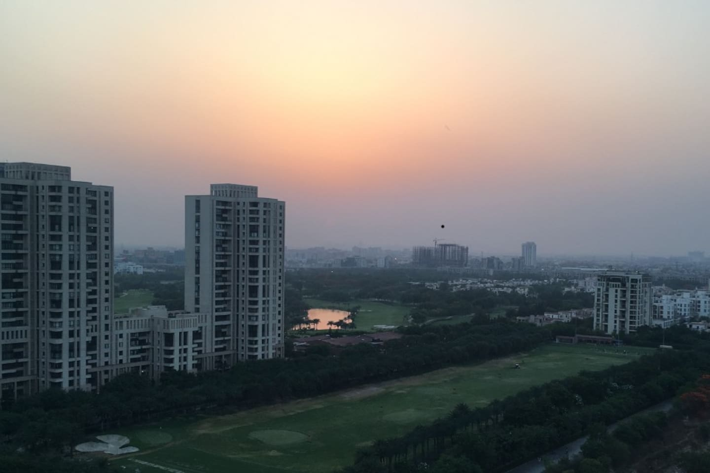 Enjoy the view of Greater Noida from the Bedroom !