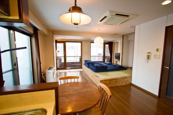 Studio Flat/Pocket WIFI/up to 4 guests/Subway 4min - Sapporo-shi