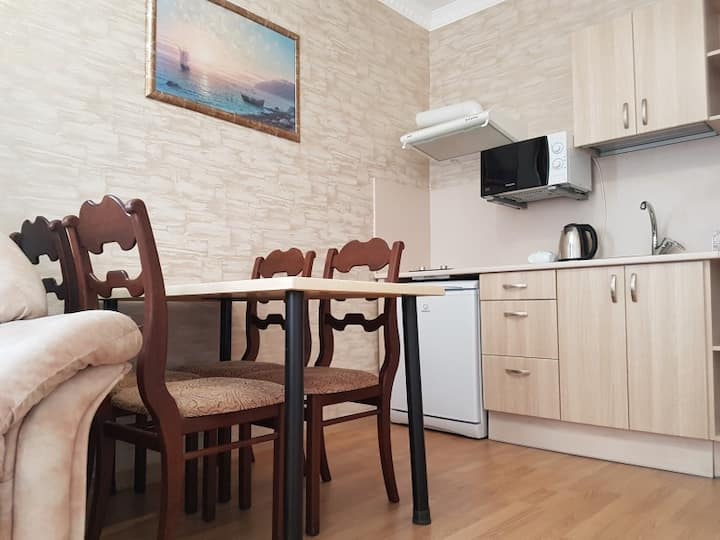 apartments with kitchen. hotel maxim