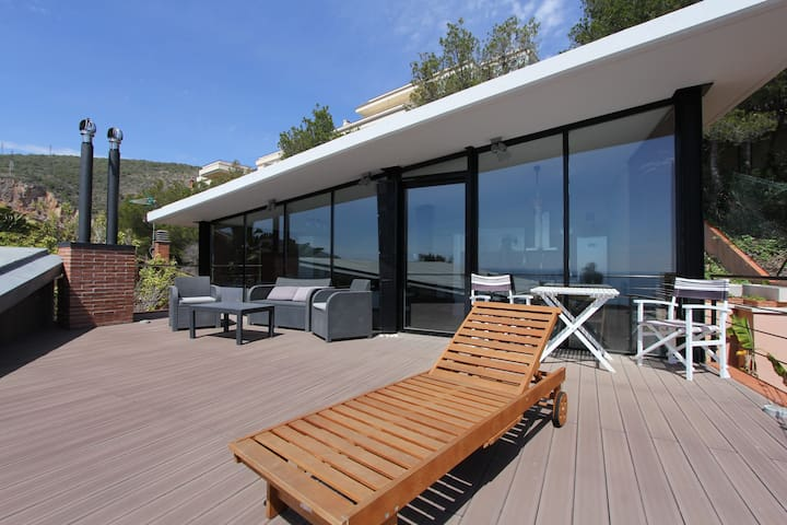 Duplex with terrace and sea view Castelldefels - Castelldefels - Lägenhet