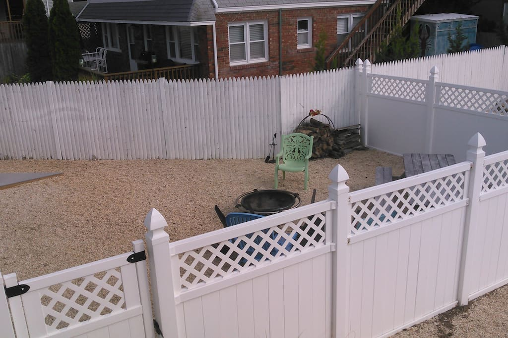 Fenced outdoor space