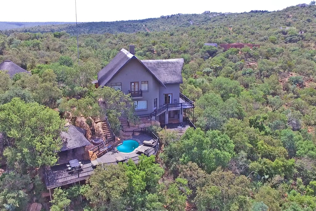 House on the hill with a 240 degree view of the bush