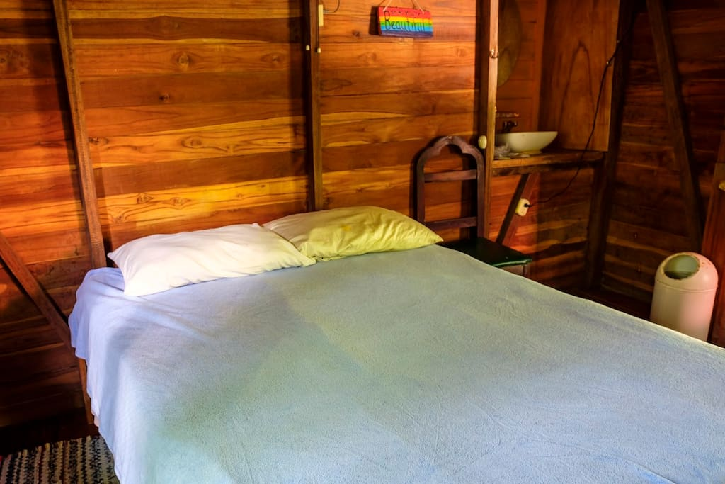 Inside Casa Madera. Like sleeping in nature, but better.