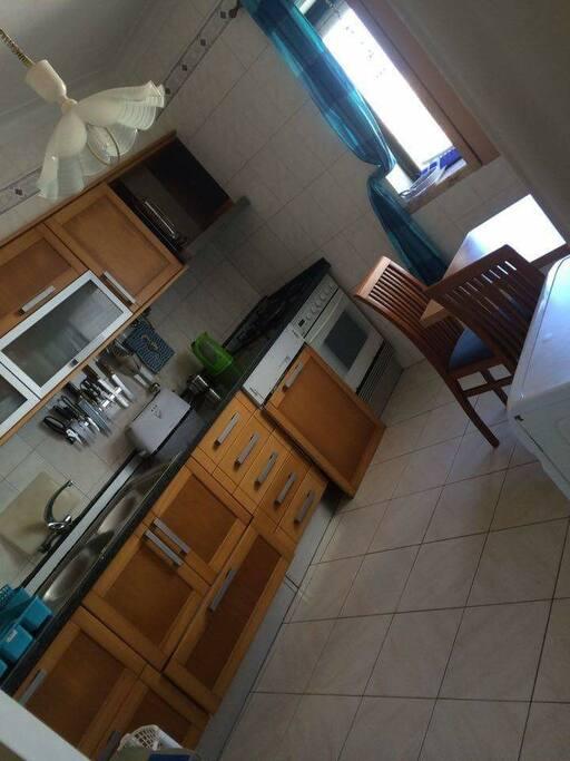 Fully fitted kitchen with dishwasher, washing machine, microwave, kettle, fridge/freezer, etc