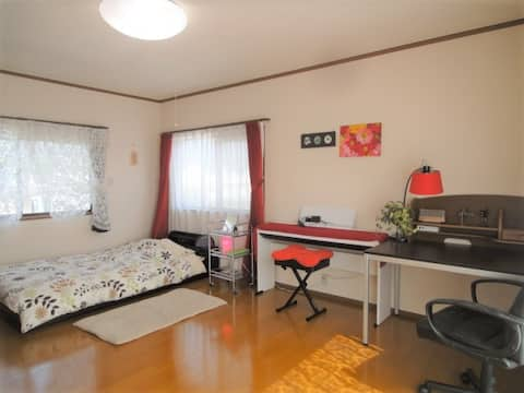 Spacious room in quiet and peaceful place :Room 1