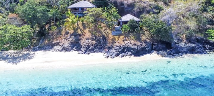 Lodges de luxe dans une ile paradisiaque.