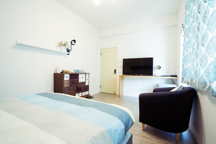 Private room with own bathroom(one double bed).