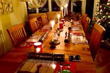 Large table for festive dining
