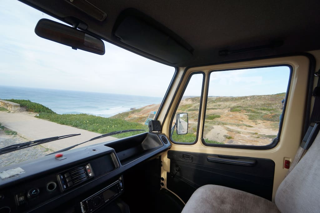 Driver's view to the outside...