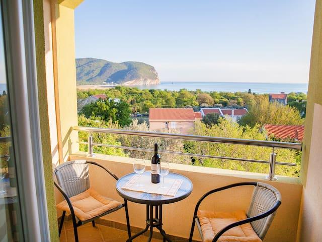 Nobel-Cute Studio with Balcony and Sea View - Kaluđerac - Pis