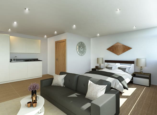 New Studio Apartment in Central Milton Keynes - Milton Keynes - Apartemen