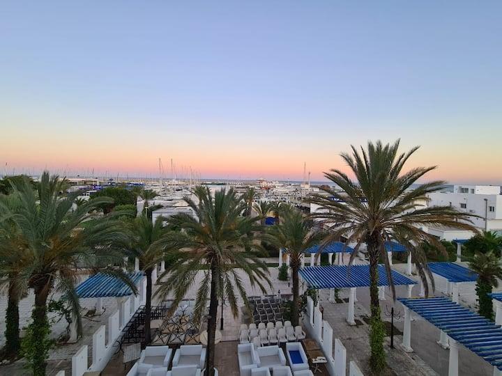 bel appartement vue imprenable sur port et mer