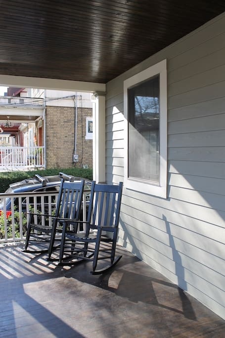 The rocking chairs on the porch. A nice way to end a day out and about.