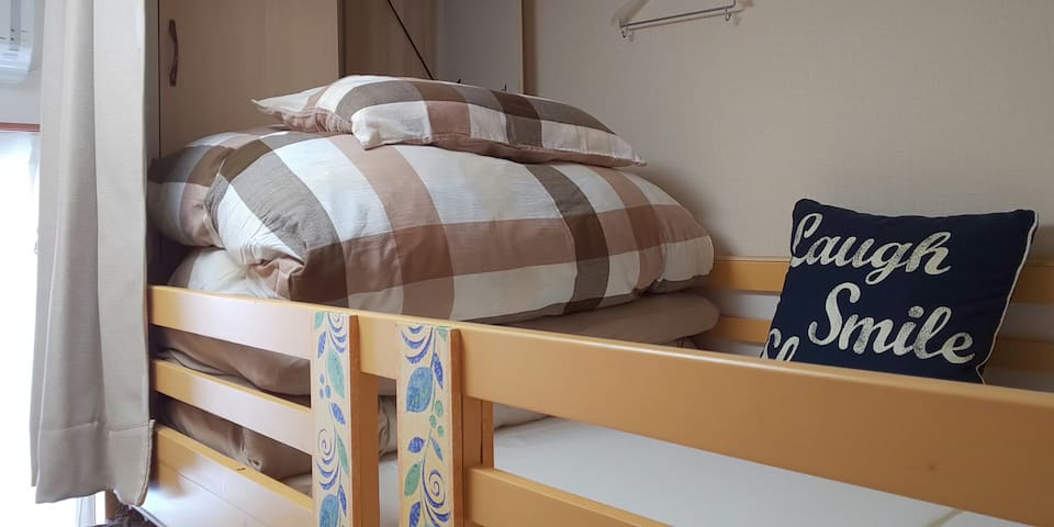 Mixed dorm (weight less than 80kg) Cozy hostel ◇Ⅳ