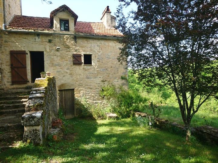 Maison en pierre dans un écrin de nature (spa)