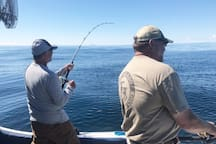 flat calm day on Cook Inlet and a hard fighting Halibut