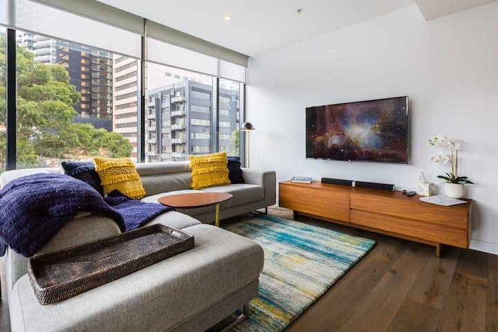 2BDR 2BATH South Melbourne Dream Apartment