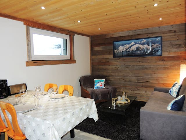 DRAKK6 : Beautiful fully renovated apartment, in quiet hamlet right next to the ski slopes