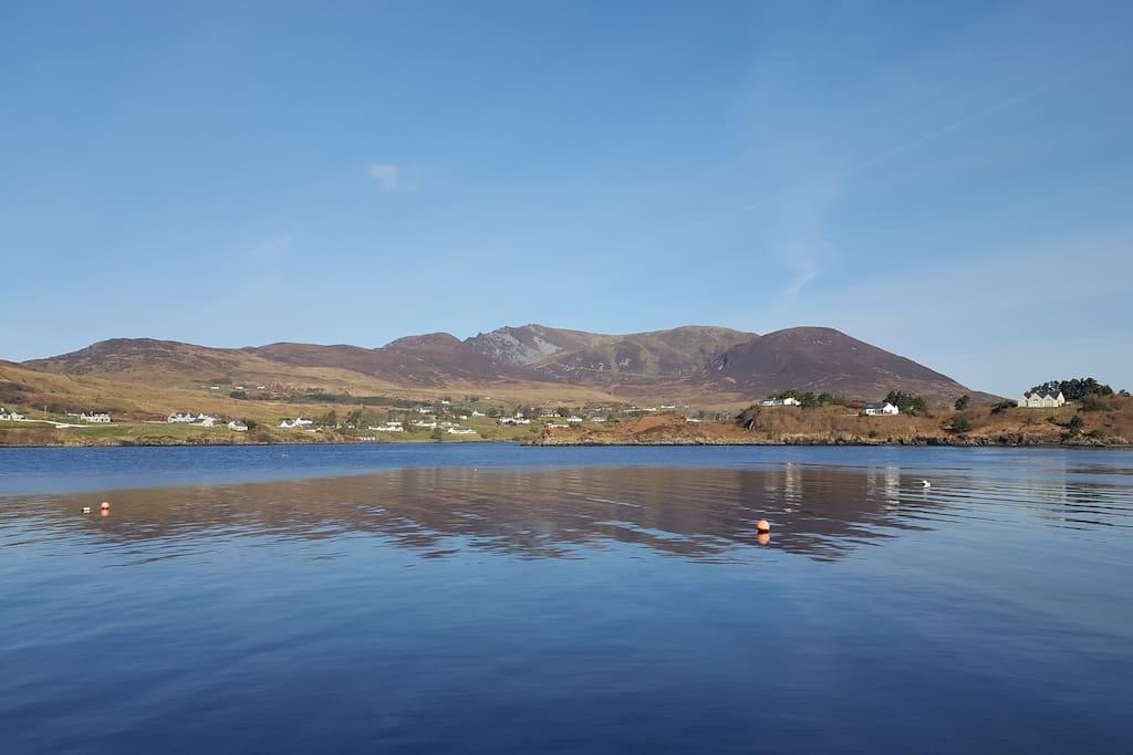View of Sliabh Liag from Cladach na gCaorach pier