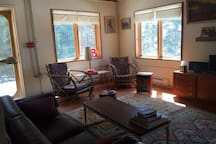 Living room south side, door to veranda.