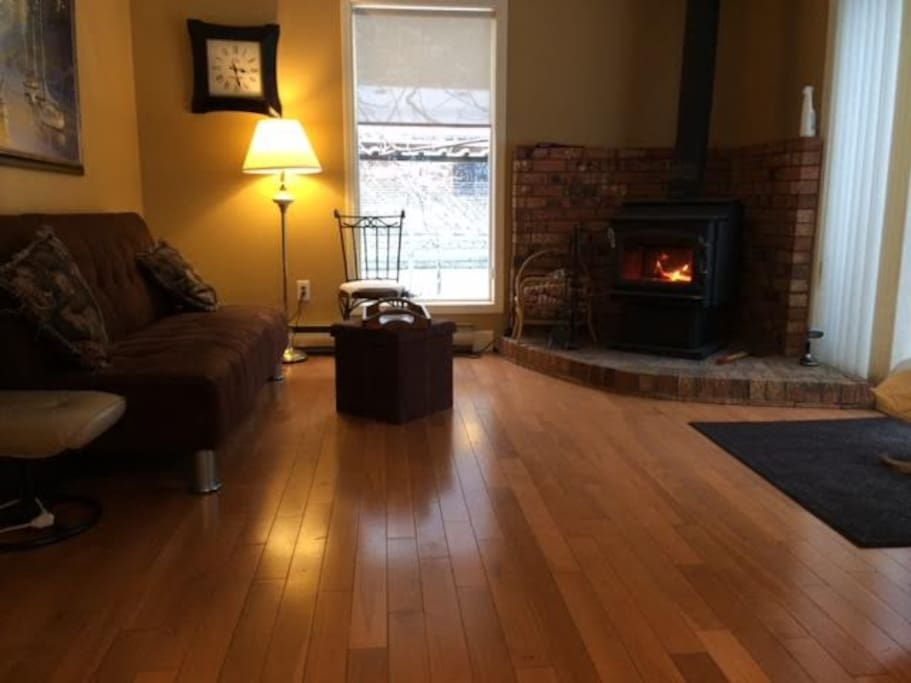 Enjoy a cozy book or a warm fire in the attached private sitting room.