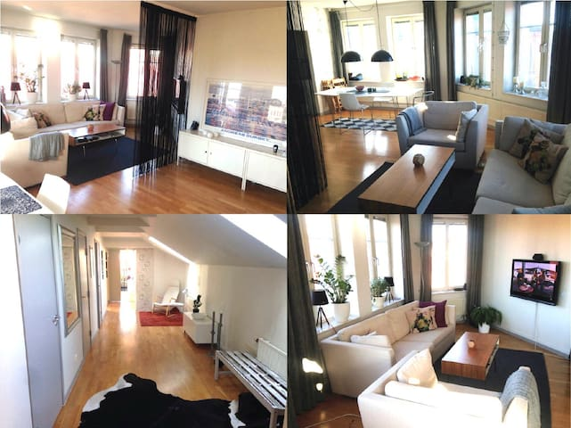 Penthouse at great location - Malmö - Daire