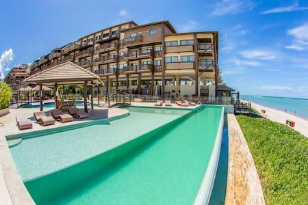 Barra Bali: condomínio resort beira-mar do paraíso - Barra de São Miguel - Apartamento