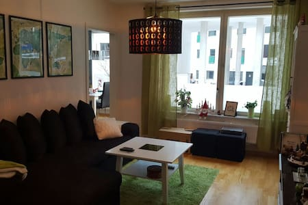 Spacious and bright room in apt close to city - 斯德哥尔摩 - 公寓
