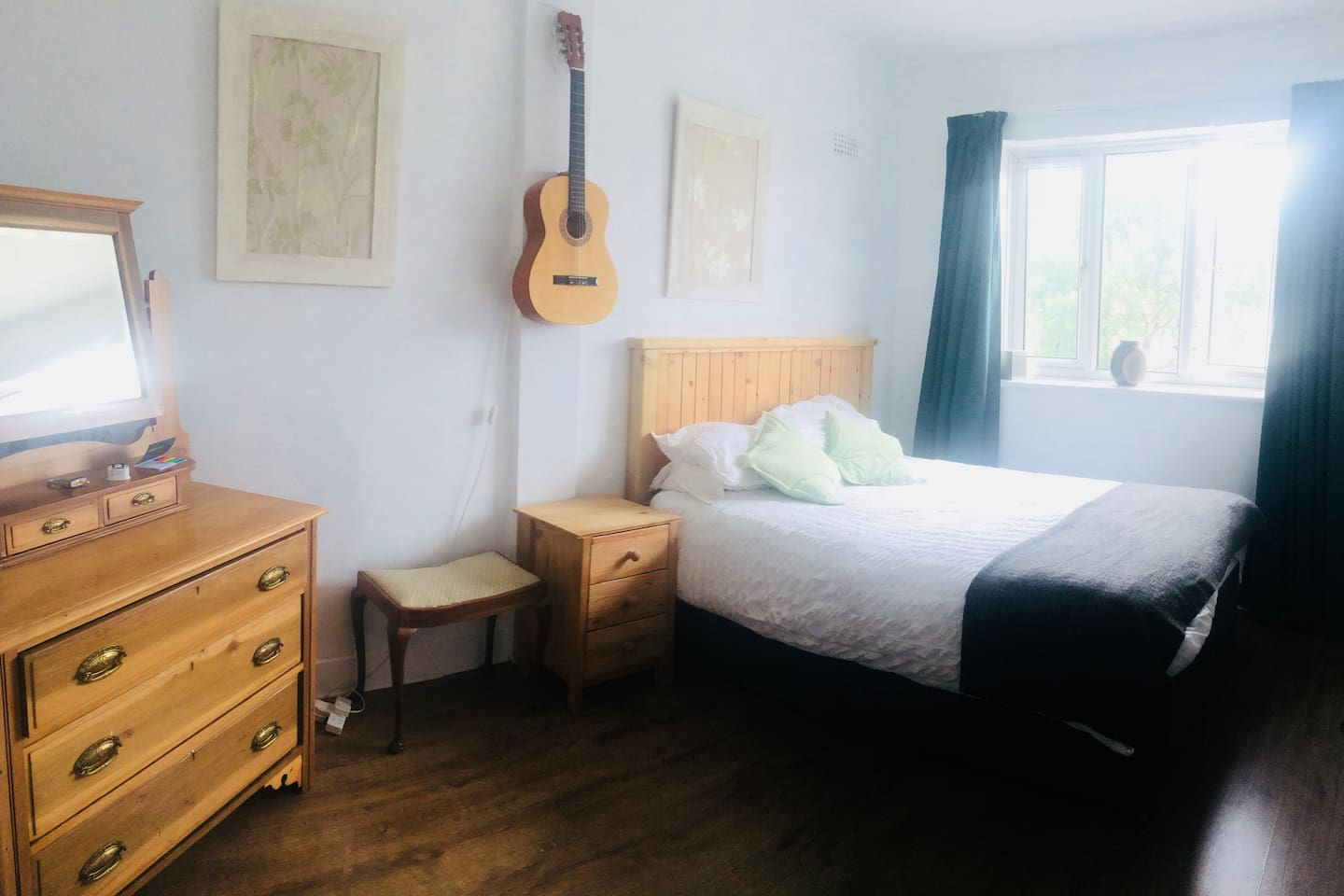 Large double room , looking onto the back garden   Room has freeview tv , small fridge, kettle , iron