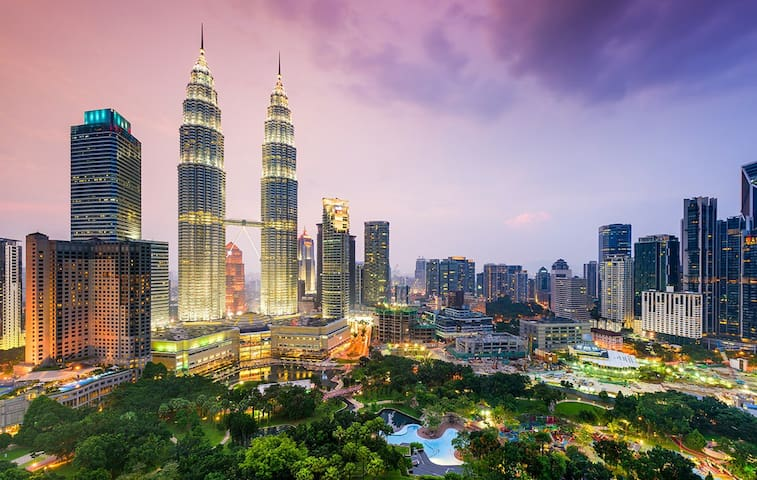 KL Tower(M)|3min KLCC|Business|Work| Family|TVbox