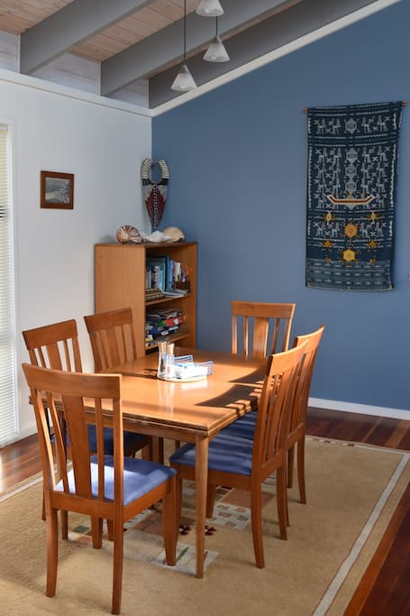 Comfortable dining area for long, lazy breakfasts and relaxing dinners