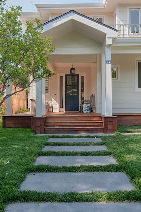 Front entrance with large front porch. Seating area for relaxing or entertaining.