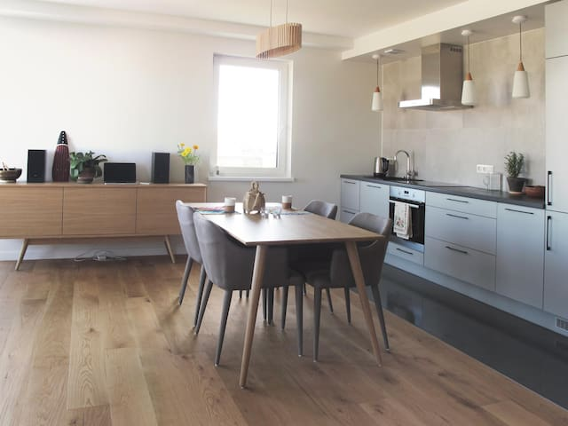 Spacious modern apartment right in the city centre