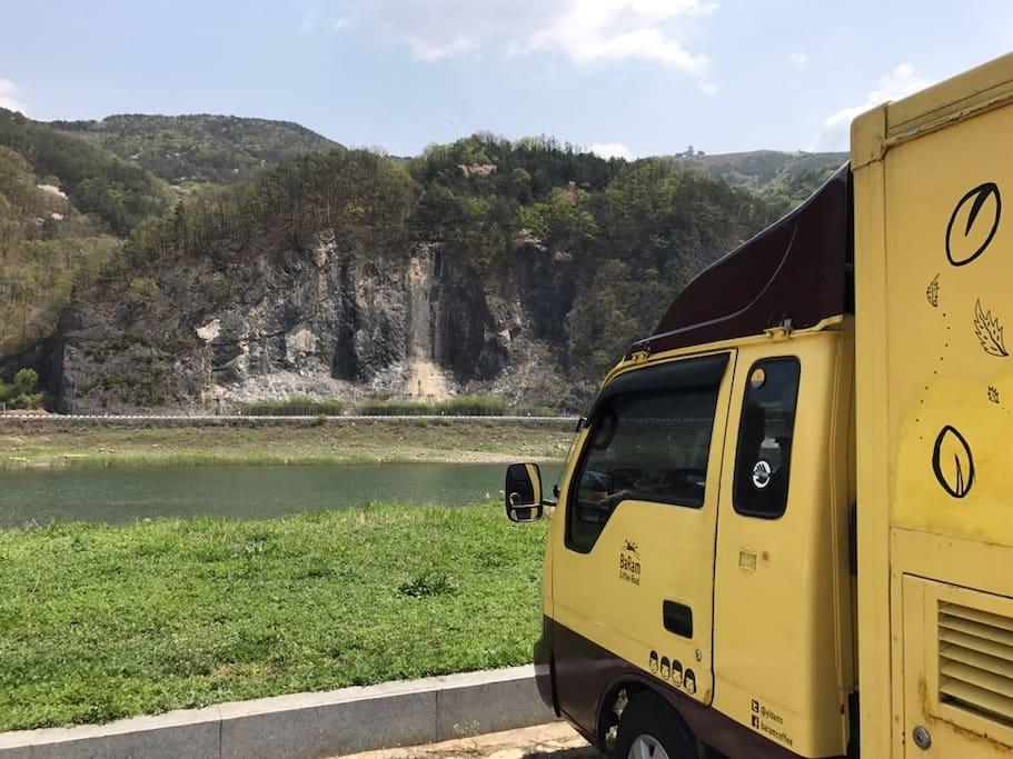 커피트럭 '풍만이' 실사, 지금은 담양을 여행중이죠.