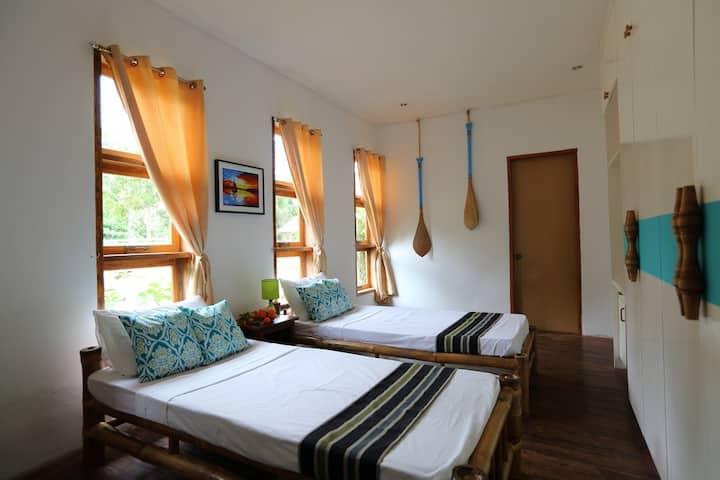 Ocean-themed Bedroom in a Homey Bed & Breakfast